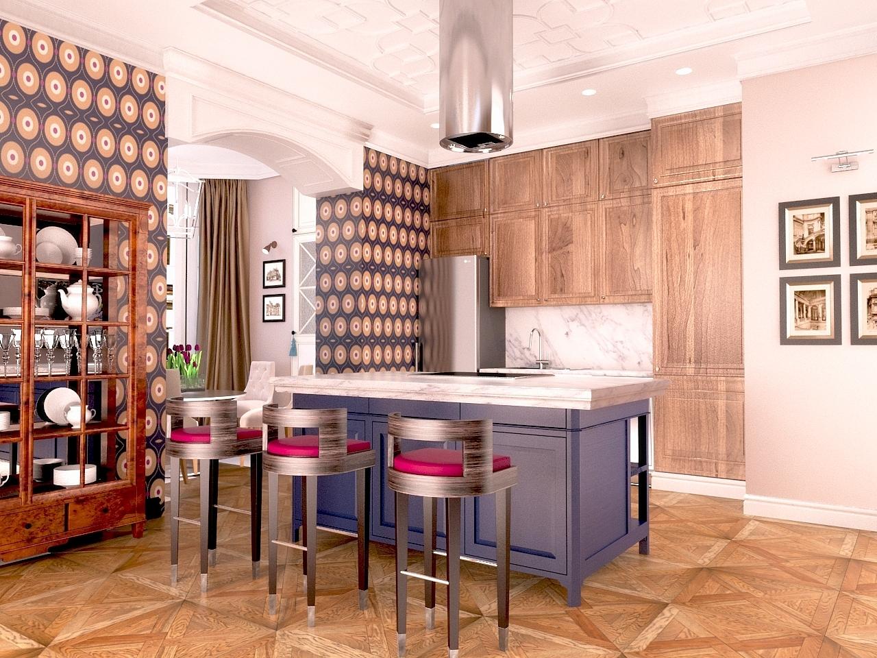 Кухня, гостиная в Куркино